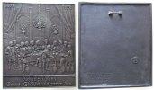 Neujahr Plakette Eisenguß Hochzeit zu Kana, v. Buderus, einseitig mit Hängevorrichtung, ca. 108,5