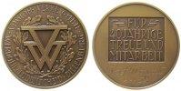 Städte Medaille Bronze Vossloh-Werke - für 40jährige Treue und Mitarbeit, Werdohl, Lüdenscheid,