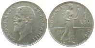 Rumänien 1 Leu Ag Carol I, etwas fleckig