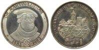 Reformation / Religion Medaille Silber Luther Martin (1483-1546), auf seinen 500. Geburtstag, Brustbild / Wartbu