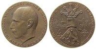 Norwegen Medaille Bronze Haakon VII - auf sein 50. Regierungsjubiläum, Büste nach links / Wappen u