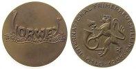 Norwegen Medaille Bronze Norwex - auf das 100. Gründungsjahr, Briefmarkenverein, Schriftzug / Löwe