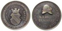 Städte Medaille Silber Baden - Baden - für 25-jährigen Dienst bei der Freiwilligen Feuerwehr, ve