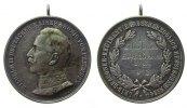 Schützen tragbare Medaille Silber Wilhelm II. 1888-1918 - Schießpreis, verliehen an Gefreiter Bösand, Leib