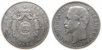 Frankreich 5 Francs Ag Napoleon III, A (Paris)