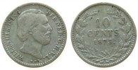 Niederlande 10 Cent Ag Wilhelm III, Schulman 651