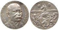 Goetz Medaille Silber Zeppelin - auf die Taufe von LZ 127 am 90.Geburtstag von Graf Zeppelin, v