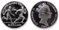 Salomonen 10 Dollar Ag Olympiade Staffellauf, kleine Flecken