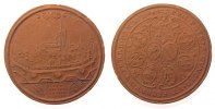 Porzellan Regimentstaler braunes Majolika Ulm - Regimentstaler 1622, ca. 37,5 MM, kleine Randfehler