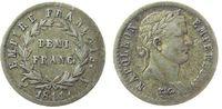 Frankreich 1/2 Franc Ag Napoleon Empereur, A (Paris), justiert