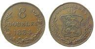 Guernsey 8 Doubles Br Wappen, mehrere Randfehler