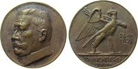Hindenburg Medaille Bronzeguß Hindenburg - auf die Schlacht bei Tannenberg, Büste nach links / Adler