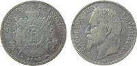 Frankreich 5 Francs Ag Napoleon III, A (Paris), kleine Randfehler