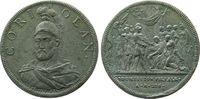 Italien Medaille Zinn Coriolan, Serie auf römische Personen, v. Dassier, späterer Guß, 31,5 MM