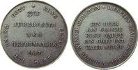 Reformation / Religion Medaille Silber auf die 300-Jahrfeier der Reformation in Frankfurt, beiderseits Schrift,