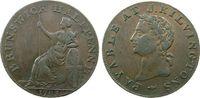 Großbritannien 1/2 Penny Ku Brunswick, payable at J. Kilvingston,Fischgrätrand / herring bone edge,Durchm