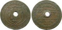 Großbritannien 1 Penny Token Ku Garmarthen (gelocht-holed),payable by Willm Moss Jacob & Halse - London, vert