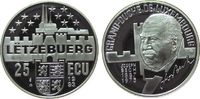 Luxemburg 25 Ecu Ag Bech Joseph (1887-1975), Staatsmann