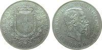Italien 5 Lire Ag Emanuel II, M (Mailand)