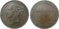 Neuseeland 1 Penny Token Ku Aukland, United Service Hotel, Atkins: 294