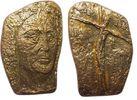 Frankreich Medaille Bronze Christus am Kreuz, ohne Gesicht und Hände, v. Germaine Richier (1902-59),