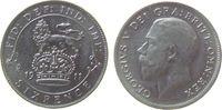 Großbritannien 6 Pence Ag Georg V, winziger Einhieb