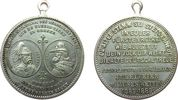 vor 1914 tragbare Medaille Bronze versilbert Albert König von Sachsen (1873-1902) - zur Erinnerung an die 8