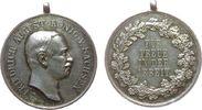 vor 1914 tragbare Medaille Silber Albert (1873-1902) - Für Treue in der Arbeit, Sachsen, Büste nach rechts