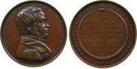 Belgien Medaille Bronze Vandenhaert Heinrich Anna Victoria (1794-1846), Maler, Büste nach rechts