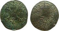 Niederlande Rechenpfennig Kupfer Karl II von Spanien (1665-1700), Antwerpen, Finanzkammer, gekrönter mehrf