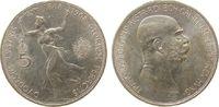 Österreich 5 Kronen Ag Franz Joseph I, Ruhmesgöttin, J397