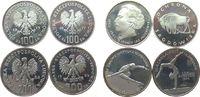 Polen 900 Zlotych Ag Ignacy Jan Paderewski, Bison, Kunstturnen und Eiskunstlauf, etwas angelaufen,