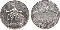 Schützen Medaille Silber Berlin - auf das 10. Deutsches Bundesschießen, Schütze in altdeutscher Tr