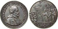 Vatikan Medaille Silber Clemens X (1670-76) - auf das Heilige Jahr, AN VI, Brustbild nach rechts