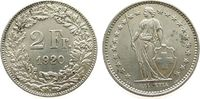 Schweiz 2 Franken Ag HMZ 1202