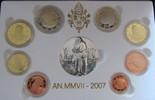 Vatikan 3,88 div. Benedikt XVI, 1 Cent - 2 Euro plus Silbermedaille Evangelist St. Marco, Org