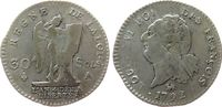 Frankreich 30 Sols Ag Louis XVI, A (Paris), 2. Emission, Heron