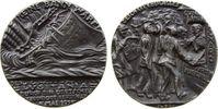 Münchner Medailleure Medaille Eisen Untergang der Lusitania, Menschen vor Reisebüro, Englische Propagandasusfü
