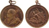 vor 1914 tragbare Medaille Bronze Friedrich I (1852-1907), Baden, auf sein 50 jähriges Regierungsjubiläum,