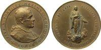 Vatikan Medaille Bronze Pius X (1903-14), A I, Büste nach rechts / Madonna auf Erdkugel und Wolke
