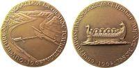 Gelegenheitsmedaillen Medaille Bronze Mosel - Eröffnungsjahr der Großschiffahrt, römische Galeere / Staustufe,