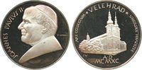Vatikan Medaille Silber Johannes Paul II, auf seinen Besuch im Kloster Velehrad (Tschechoslowakei