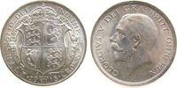 Großbritannien 1/2 Crown Ag Georg V, Seaby 4011, zaponiert