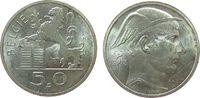 50 Francs 1948 Belgien Ag Leopold III (1934-1950), Belgie vz  11,50 EUR  + 8,00 EUR frais d'envoi