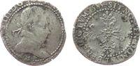 Frankreich 1/2 Franc Ag Henri III (1574-89), B (Rouen), 6,65 Gramm