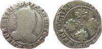 Frankreich 1/2 Franc Ag Henri III (1574-89), L971, Cia.1430-31, K (?), 6,51 Gramm