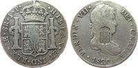 Portugal 870 Reis Ag Maria II., 1834-1853, Gegenstempel auf 8 Reales Peru, Gegenstempel fast vorzü