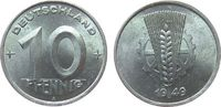 10 Pfennig 1949 DDR Al A, Berlin fast stgl  22,50 EUR  + 8,00 EUR frais d'envoi