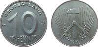 10 Pfennig 1952 DDR Al E, Muldenhütten vz  14,00 EUR  + 8,00 EUR frais d'envoi