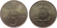 5 Mark 1969 DDR Ni-Br 20 Jahre DDR vz-unc  7,50 EUR  + 8,00 EUR frais d'envoi